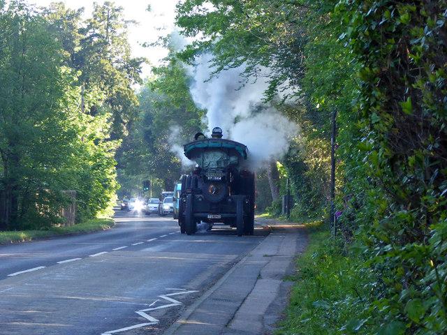 Road locomotive on Balcombe Road by Robin Webster