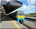 SN4119 : Manchester train in Carmarthen station by Jaggery