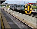 SN4119 : Pembroke Dock train in Carmarthen station by Jaggery