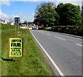 SN5748 : Lampeter Fair advert alongside Llanwnnen Road, Lampeter by Jaggery