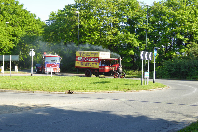 Steam lorry on Balcombe Road
