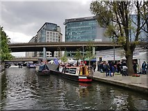 TQ2681 : Canal and Westway by DS Pugh
