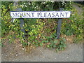 TM5077 : Mount Pleasant sign by Adrian Cable