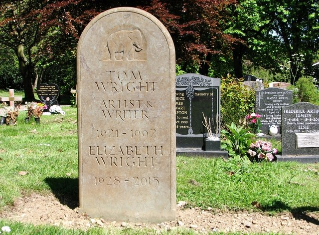 The grave of Tom Wright