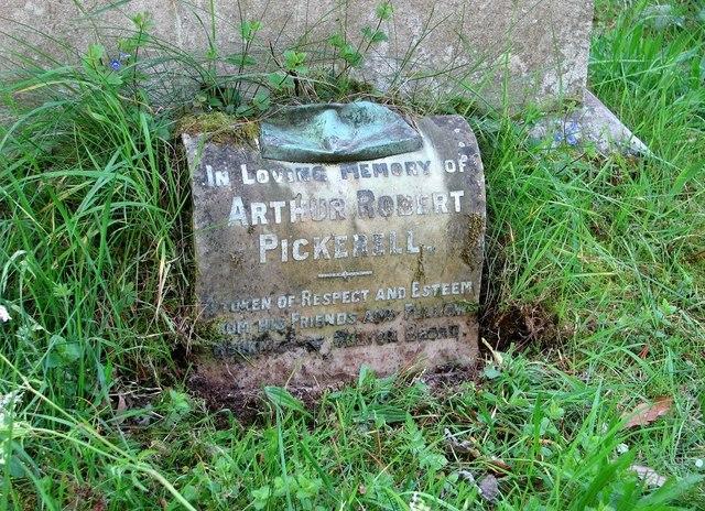 The monument of Arthur Robert Pickerell