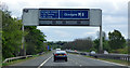 NS4666 : M8 gantry sign near  Junction 29 by Thomas Nugent