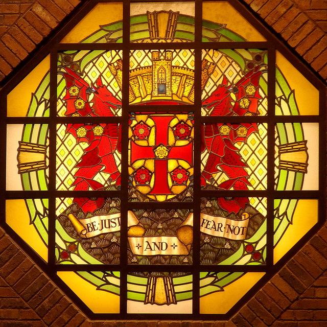 Coat of arms of Carlisle, Tullie House, Carlisle
