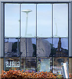 NS3174 : Port Glasgow retail park reflections by Thomas Nugent