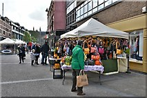 SO8554 : Worcester: High Street stalls by Michael Garlick