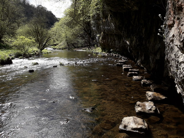 Chee Dale: looking back along the stepping stones