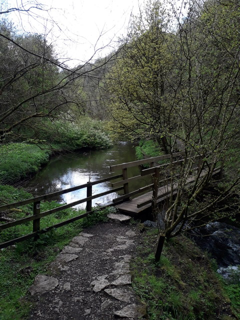 Chee Dale: footbridge over the Wye