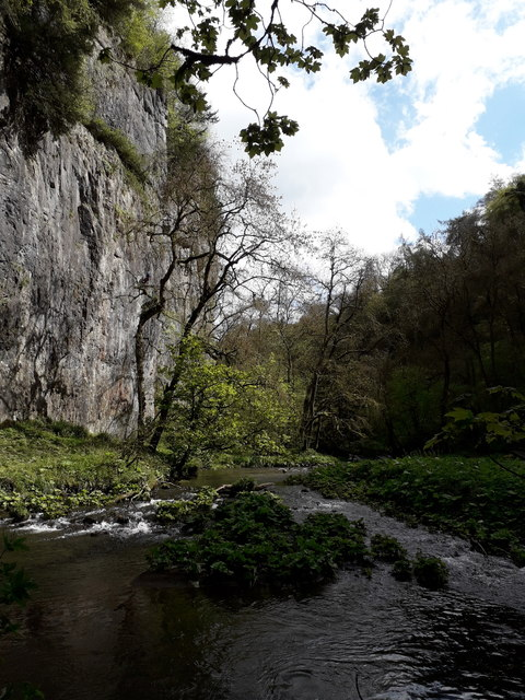 Chee Dale: the vertical face of Chee Tor