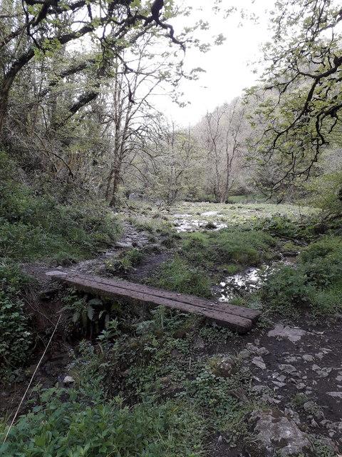 Chee Dale: a railway-sleeper footbridge