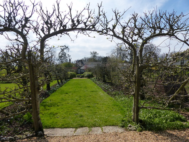 Houghton Lodge, walled garden