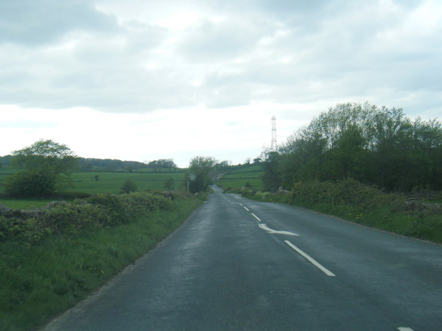 B6254 near Broad Moss Wood