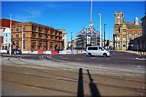 SD3036 : Talbot Square and new tram tracks, Blackpool by P L Chadwick