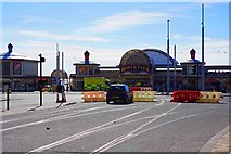 SD3036 : New tram tracks in Talbot Square, Blackpool by P L Chadwick