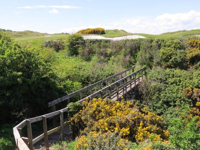 Bridge on Fife Coast Path near St Andrews
