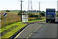 NO4137 : Inveraldie Village Bus Stop, Southbound A90 by David Dixon