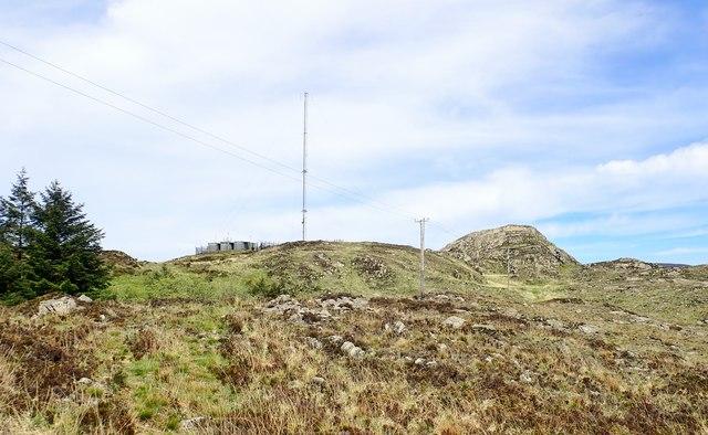Emergency Services radio mast on Croslieve