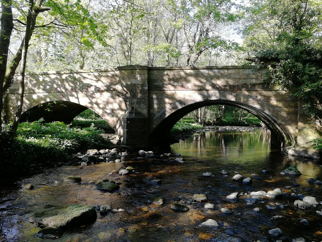 Ings Bridge in dappled sunlight