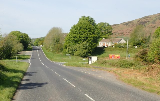 Tierney's bus stop at the crossroads of the B30, Mullaghan's Road and Mill Road
