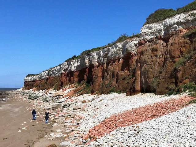 Cliffs and rock falls at Hunstanton