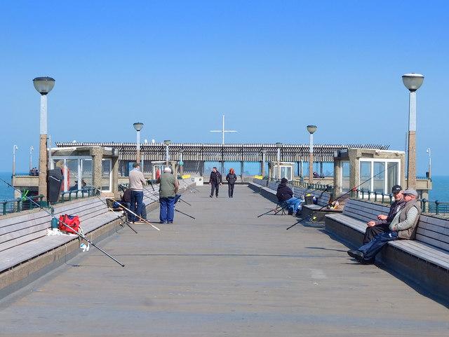Leisure Fishing on Deal Pier