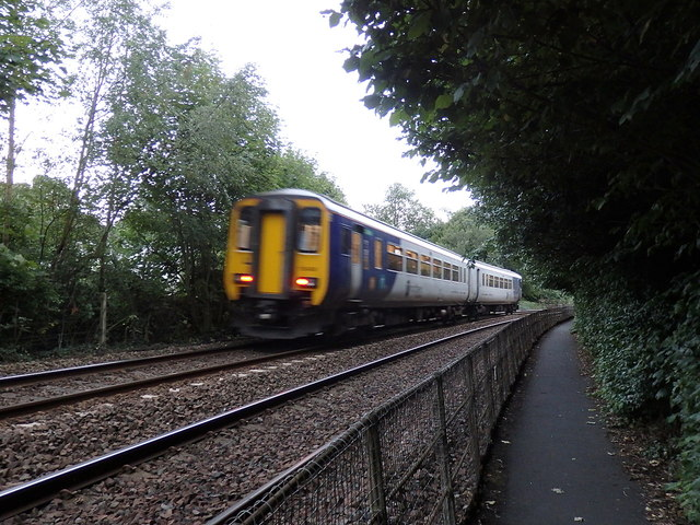 Train approaching Wetheral