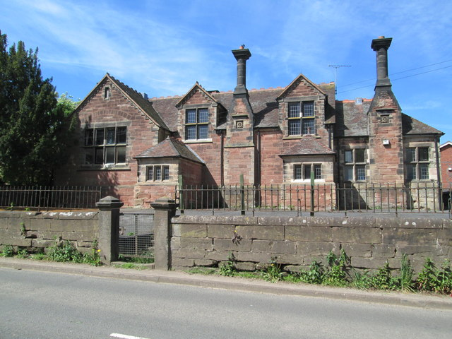 Old school building at Madeley