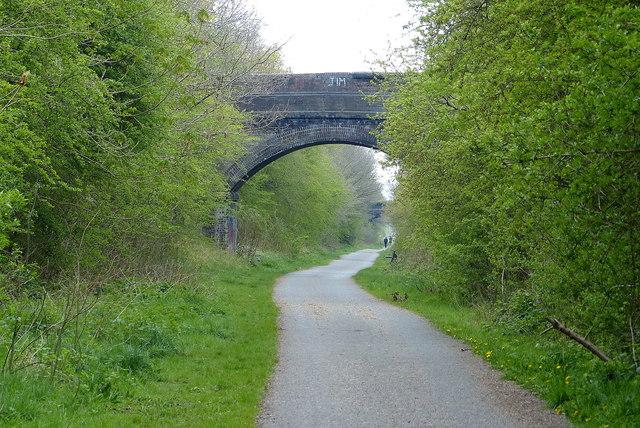 Bridge across the Chester Railway Path at Blacon