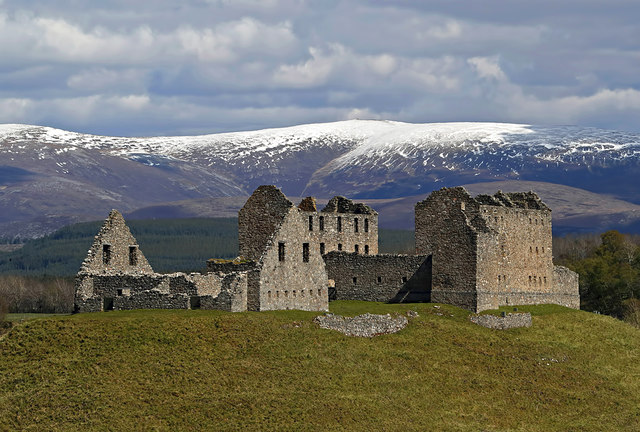 The remains of Ruthven Barracks