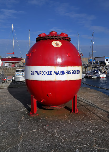 The Shipwrecked Mariners Society collection box at Lossiemouth