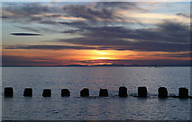 NJ2270 : A Lossiemouth West Beach sunset by Walter Baxter