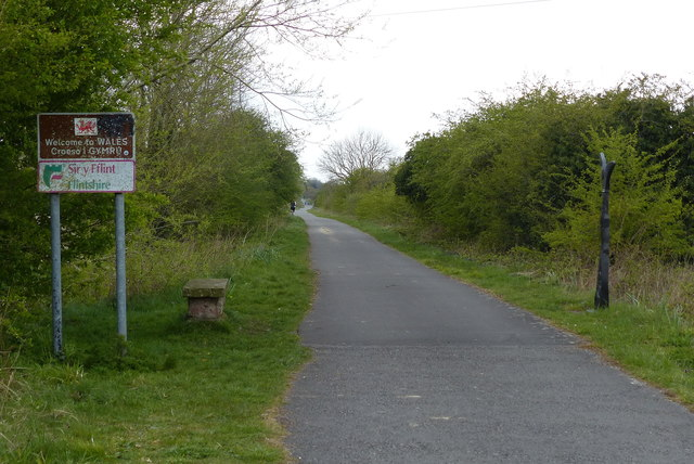 England/Wales border near Blacon