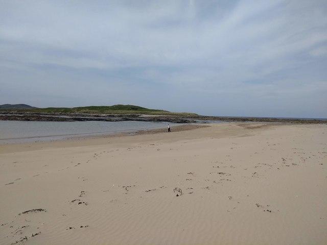 Looking for shells on Ballyhooriskey Beach