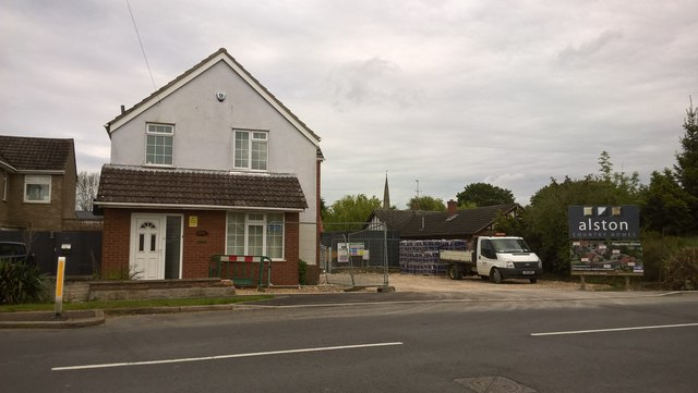 New houses under construction off Lincoln Road, Glinton