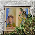 SH6076 : Green Cottages: Painted window (4) by Gerald England