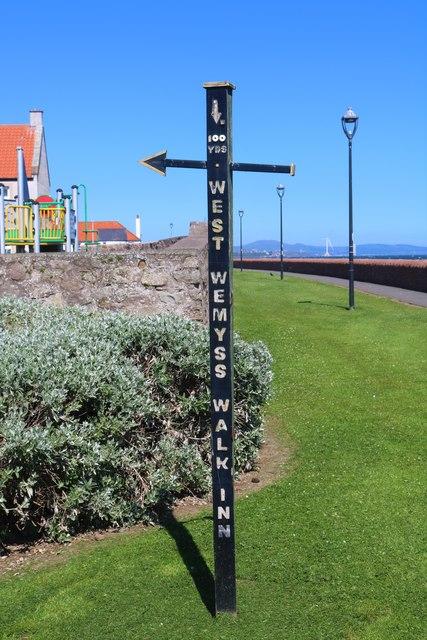 Sign near Fife Coastal Path, West Wemyss
