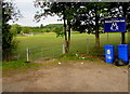 ST3090 : Entrance gate to Malpas Cricket Club, Newport by Jaggery