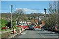 TQ5671 : Road works at Lane End by Robin Webster