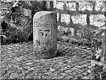 NS5036 : Milestone  at Galston Cross by Raibeart MacAoidh