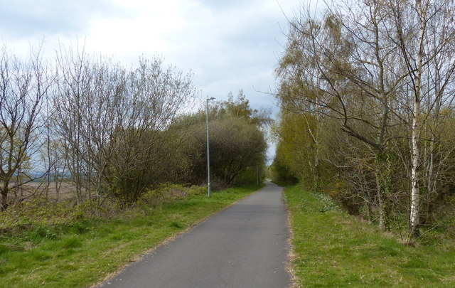 Chester Railway Path near the Deeside Industrial Park