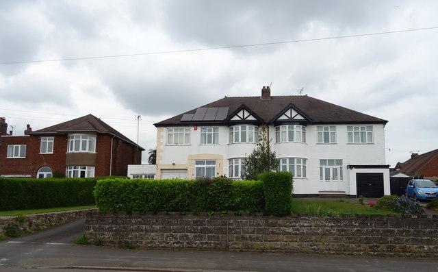 Houses on Baswich Lane