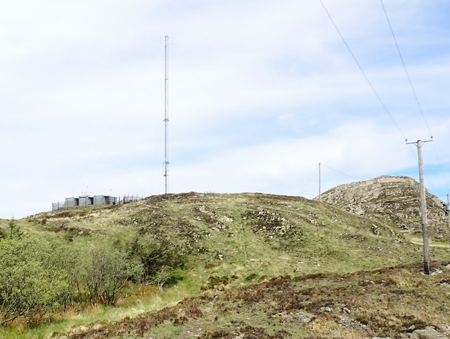 Emergency services communications mast on Croslieve