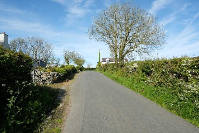 Lane at Rhyd Goch