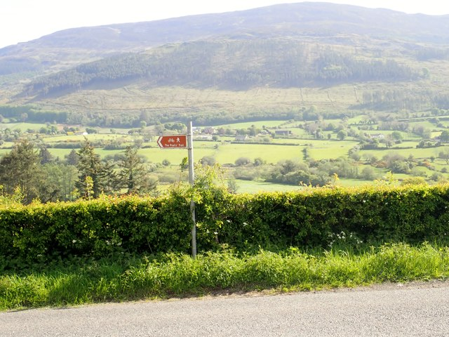 Slieve Gullion viewed from the Poets Trail on the south side of the village of Mullaghbawn