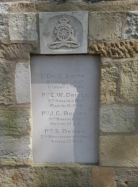 Names of the fallen on the Langley war memorial - 3
