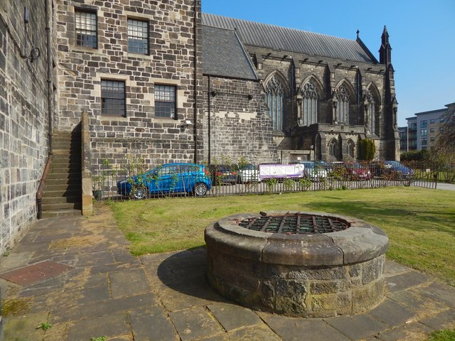 Old well beside Paisley Abbey