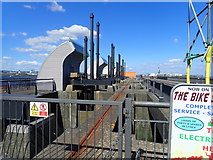 ST1972 : Sluices, Cardiff Bay Barrage by Eirian Evans
